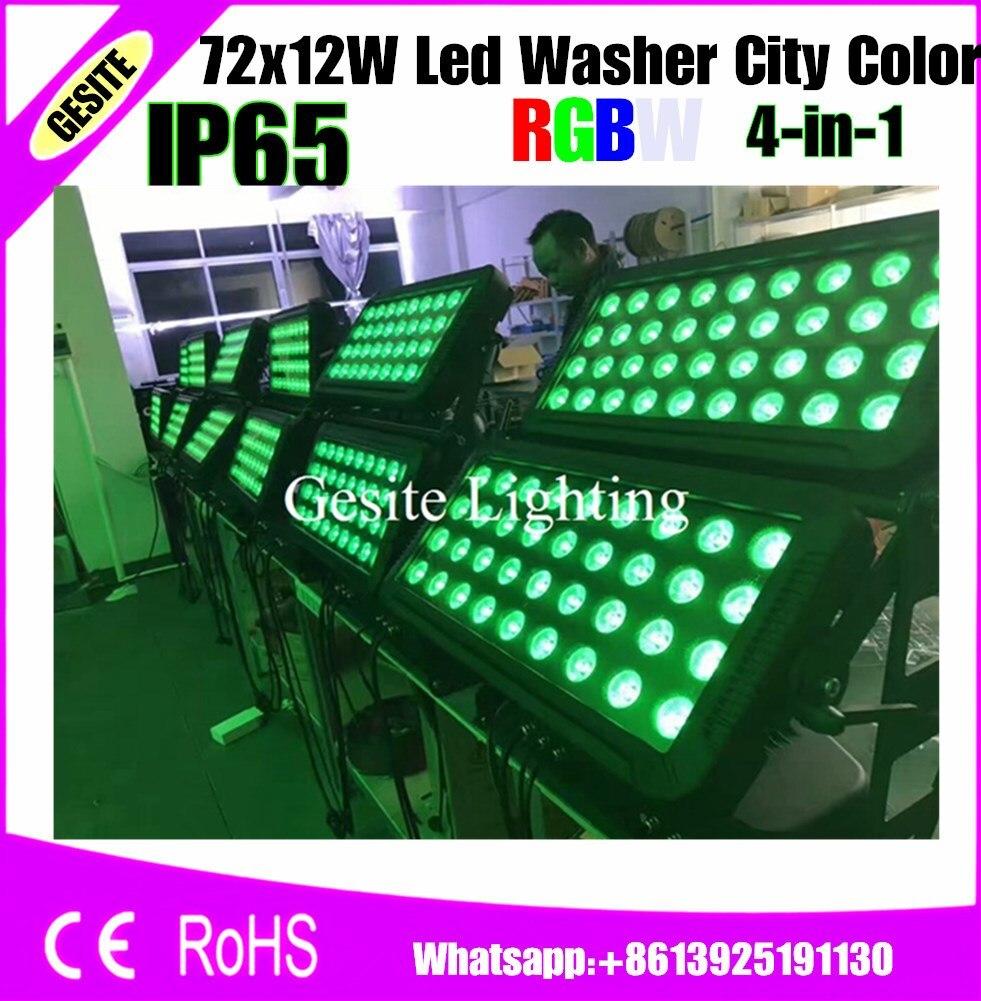Архитектурного освещения напольный 72x12 Вт 4in1 870 Вт RGBW светодиодные прожекторы Город Цвет