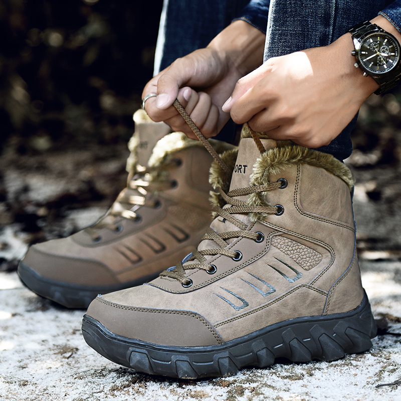 Large Size Outdoor Sneaker Shoes High Cotton Shoe Men Shoes Snow Boots Super Quality Winter Lace Up Shoes botas masculina UBA202 2017 female warm snow boots large size 41 cotton winter shoe for woman soft comfortable outdoor footwear high quality