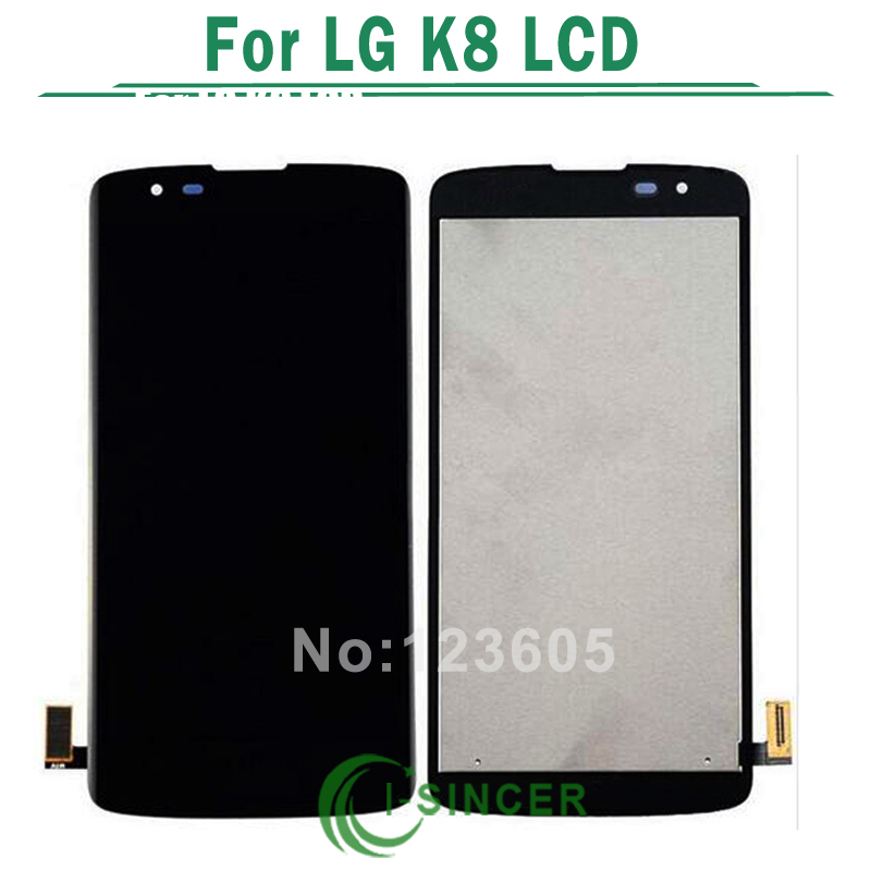 ФОТО 5PCS/LOT For LG K8 LTE K350N K350E K350DS Full LCD DIsplay + Touch Screen Digitizer Assembly Black White Free DHL