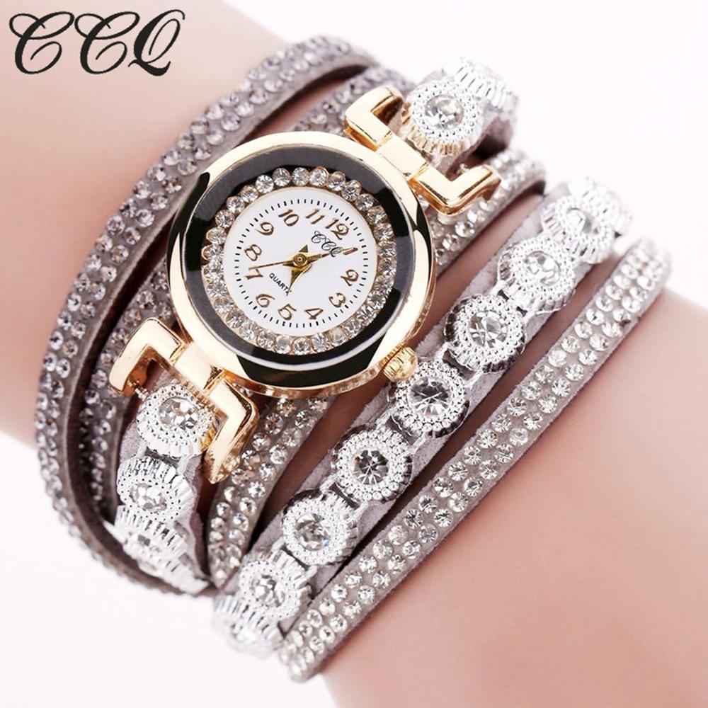Luxury Brand CCQ Vintage Leather Bracelet Watch Men Women Wristwatch Ladies Dress Quartz Watch  2019 Femme Gift Reloj Mujer Q