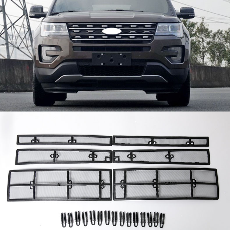 Car STAINLESS STEEL Front Grill Guard Grille Insect Screen For Ford Explorer 2016 2017 2018 Accessories Car STAINLESS STEEL Front Grill Guard Grille Insect Screen For Ford Explorer 2016 2017 2018 Accessories