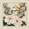 5D Plum blossom DIY eagle Cross-Stitch partial pasting Diamond Embroidery Flower Serie Vertical Print Rubik's Cube Drill Picture