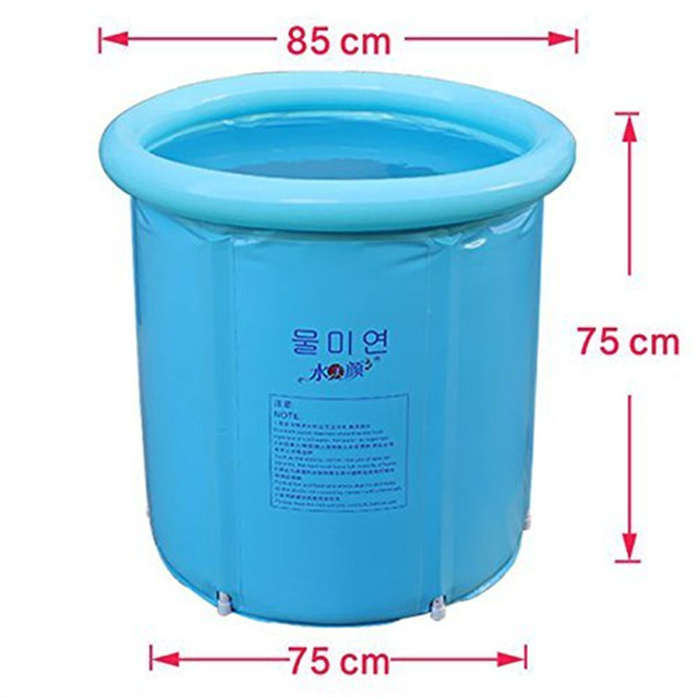 happy life portable plastic bathtub, blue-in inflatable & portable