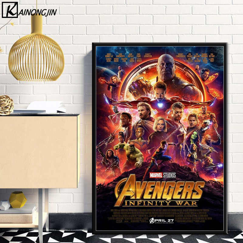 Posters and Prints 2008-2019 marvel Movie Series 23 Set poster End Game Marvel Avengers Poster Art Canvas Painting Iron man Thor