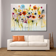JQHYART Abstract Red Yellow Blue Modern Wall Pictures For Living Room Painting Wall Painting Picture Canvas Art No Frame(China)