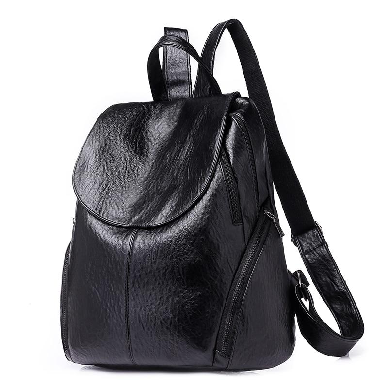 Fashion New Travel Bacpaok Korean Women Female Rucksack Leisure Student School Bag Soft Pu Leather Women Bag 226 #3