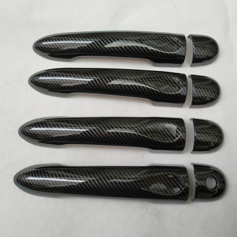 For LADA XRAY x ray x-ray 2015 2016 2018 door handle cover chrome trim accessories color carbon fiber