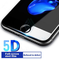 5D curvo para iPhone 6 7 Plus vidrio templado para iPhone 6S 7 7s 8 Protector de pantalla completa película protectora 5D Anti-explosión