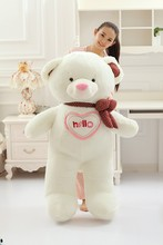 huge 150cm hello bear pluash toy white teddy bear doll soft hugging pillow,birthday gift, Xmas gift d2249