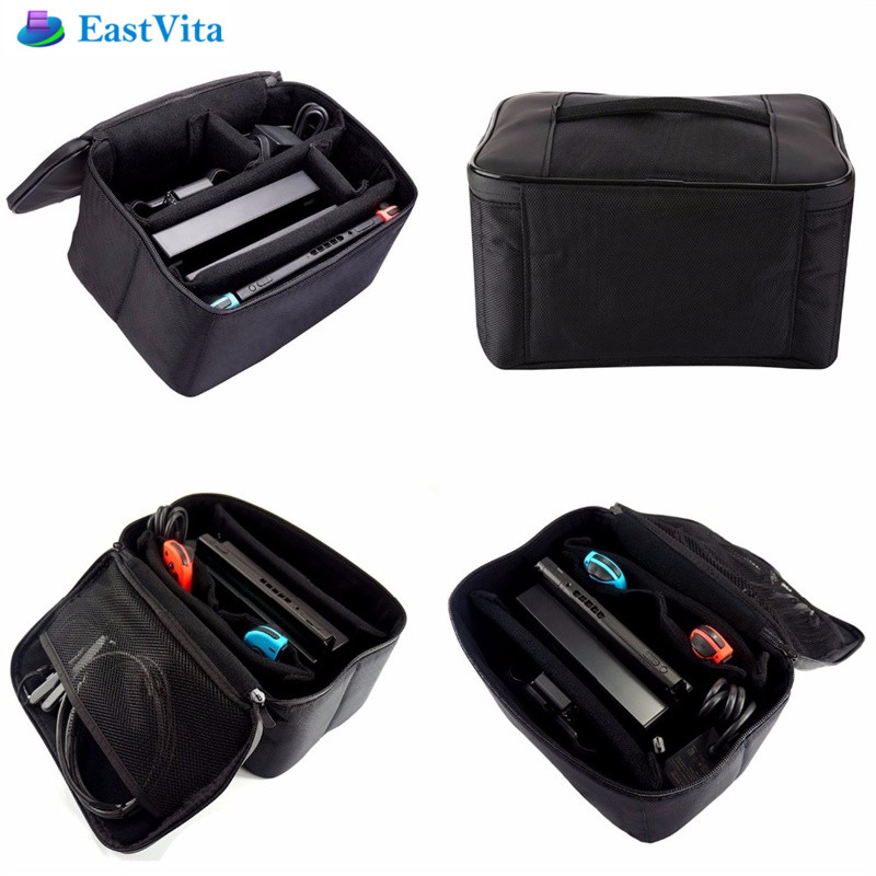 EastVita games Pouch Bag For Nintend Switch Travel Protective Storage Box Shoulder Carrying Case for Nintend Console NS NX Pack