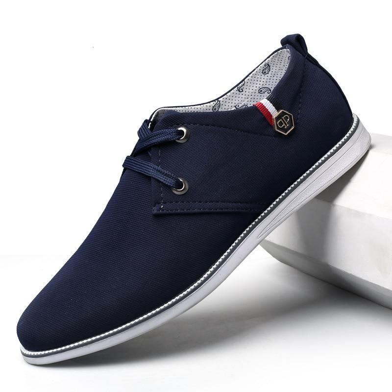 Hommes classique toile chaussures décontracté bas à lacets mode confortable marche baskets