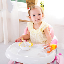 Child baby walker multifunctional dining car belt diy  folding