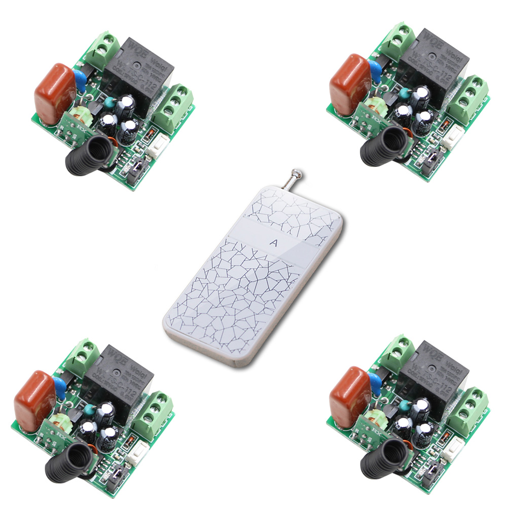 Smart Home Wireless Transmitter Receiver 220V Light Lamp LED Bulb Remote Control Switch Input Output Power Mini Free Shipping free shipping light lamp led bulb household appliances industrial equipment power remote on off smart home learning code ask
