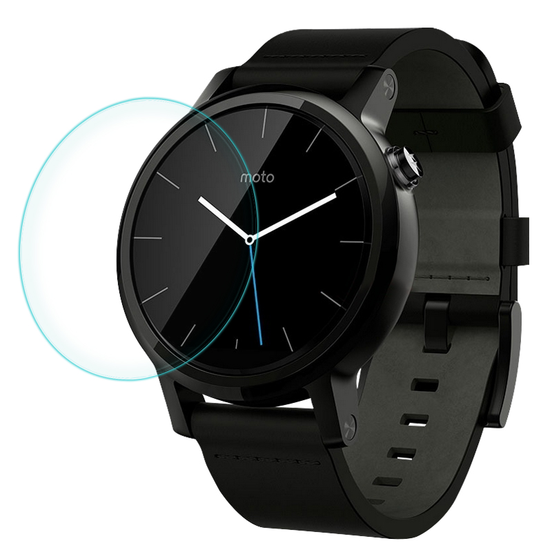 CR Top Quality 0.2mm 9H Tempered Glass Screen Protector for Motorola Moto 360 Smart Sport 42mm 46mm 1 & 2 Generation ...