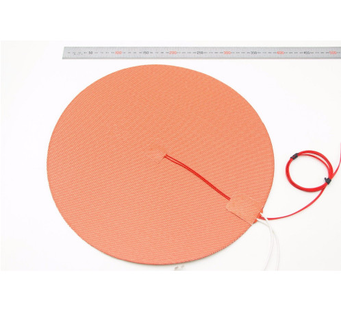 Dia 500mm Round Silicone Rubber Heater Mat 110v/220v 800w Heated Bed 50cm For Reprap Delta Kossel 3d Printer Office Electronics