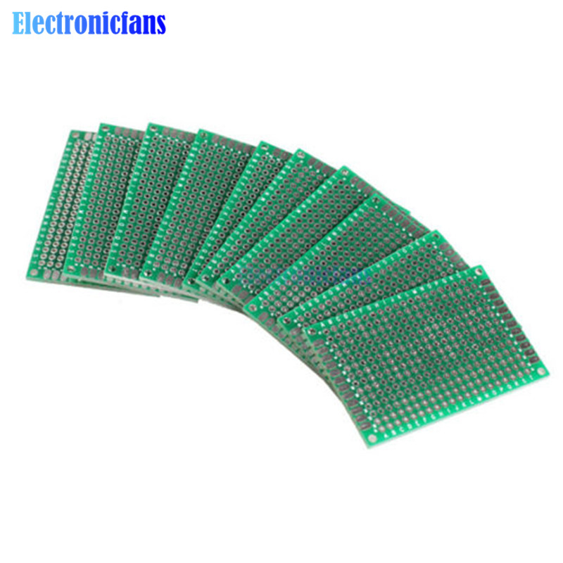 5PCS 4x6 4*6cm 40mmx60mm FR-4 Double Side Prototype PCB 280 Points Hole Tinned Universal Breadboard 40x60 4x6cm
