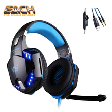 KOTION EACH Earphones gaming headset Headphone For Computer 3.5mm plug wired gaming headset with microphone earphones big pc