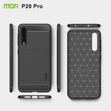 MOFi Carbon Fiber Silicone TPU Back Cover for Huawei P20 Pro