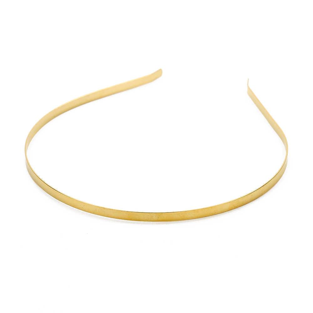 Lote de 10 unidades de 3, 5 y 6mm de cinta para el pelo de acero inoxidable, oro, rodio, negro, liso, blanco, para manualidades y accesorios de joyería