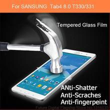Бесплатная доставка Высокое Качество взрывозащищенный Закаленное Стекло Пленка для Samsung Galaxy Tab 4 8.0 T330 T331 Протектор Экрана
