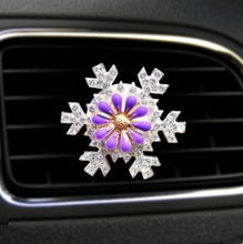 1 Piece Car Outlet Decoration Creative Diamond Flower Air Conditioning Decorative Pendant Ornaments