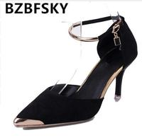 Women Suede Pumps High Heels Women OL Pumps Sexy High Heels Shoes Women Pointed Toe Thin