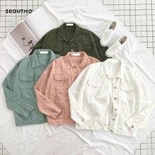 SEDUTMO Spring Denim Jacket Women Boyfriend Jean Coat Streetwear Harajuku Vintage Candy Jackets Autumn Casual Outerwear ED194