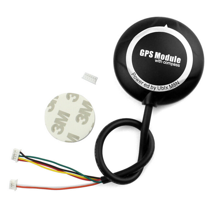 XT-XINTE Mini M8N GPS Module NEO-M8N GPS pour APM 2.6/2.8 & PIX PX4 2.4.6 Vol Contrôleur DIY RC Drone F18544