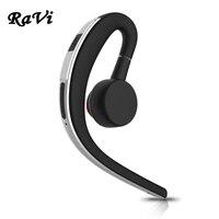 RAVI Bluetooth Earphone In Ear Business Wireless Earphone Handsfree Bluetooth Headset Noise Cancelling Earbud With HD
