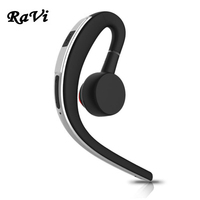 RAVI Bluetooth Earphone In Ear Business Wireless Earphone Handsfree Bluetooth Headset Noise Cancelling Earbud With HD