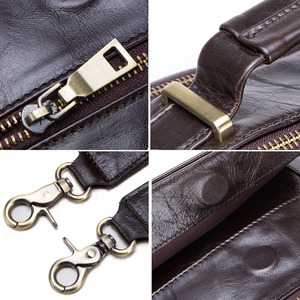 """Image 5 - CONTACTS new genuine leather messenger bag for men casual shoulder bags male flap bag luxury brand crossbody bags for 9.7"""" Ipad"""