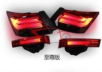 4pcs Set LED Tail Lights For Accord Sedan 4 Door 2008 2013 Light Guide Section