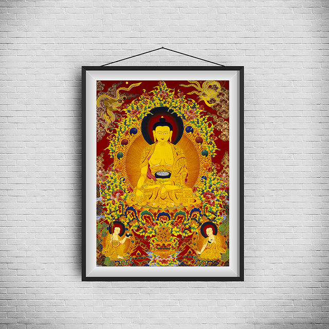 Thangka Unique Buddhism Traditional Realistic Painting 1