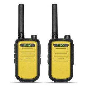 Image 4 - 2PCS 100% Originale custodia in pelle WLN di KD C10 Walkie Talkie Uhf 400 470MHz 16 Canali Mini Stazione Radio A Due Vie FMR PMR KDC10 Ham Radio Amador