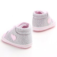 Infant Newborn Baby Girls Polka Dots Heart First Walkers  Shoes
