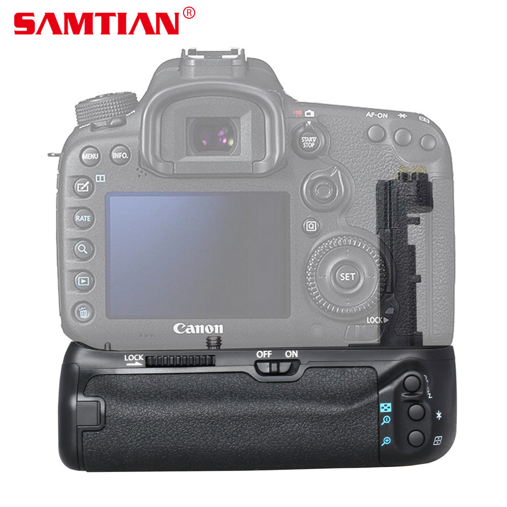 SAMTIAN Vertical Battery Grip Holder for Canon EOS 5DMark III 5DS DSLR Camera Work with LP