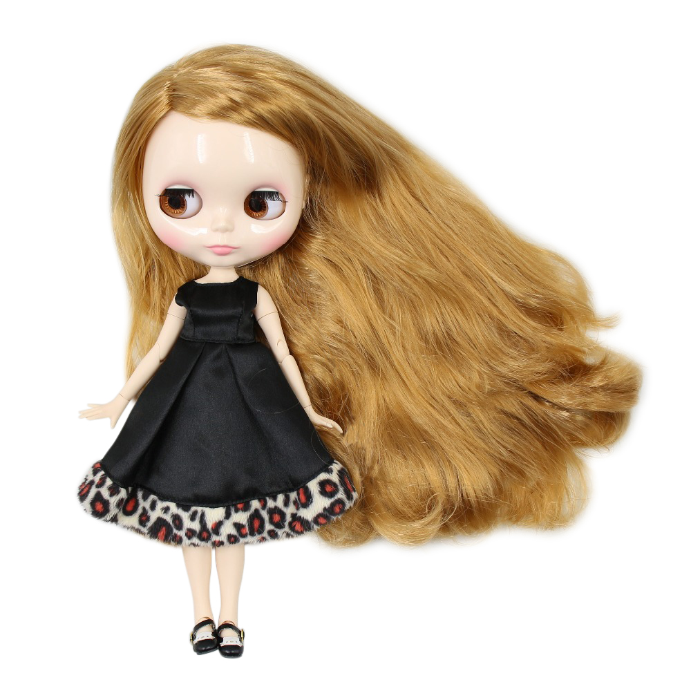 Factory blyth doll joint body white skin golden blonde hair side parting 30cm 1 6 BL331