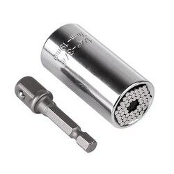 Cabeça de Chave de torque Conjunto Manga Socket 7-19 milímetros Poder Broca Chave Ratchet Spanner Bucha Gator Aderência Magia Multi ferramentas manuais