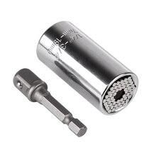 Torque Wrench Head Set Socket Sleeve 7-19mm Power Drill Ratchet Bushing Spanner Key Gator Magic Grip Multi Hand Tools