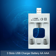 3 слота Универсальный 3,6 V зарядное устройство адаптер с USB Интеллектуальная Зарядка для Ni-Cd перезаряжаемые батареи AA AAA