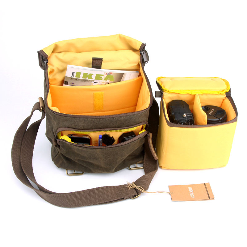 Professional Camera Shoulder Bags Digital Photo Video Canvas Soft Sling Bag Pack DSLR Travel Case for Canon Nikon Sony