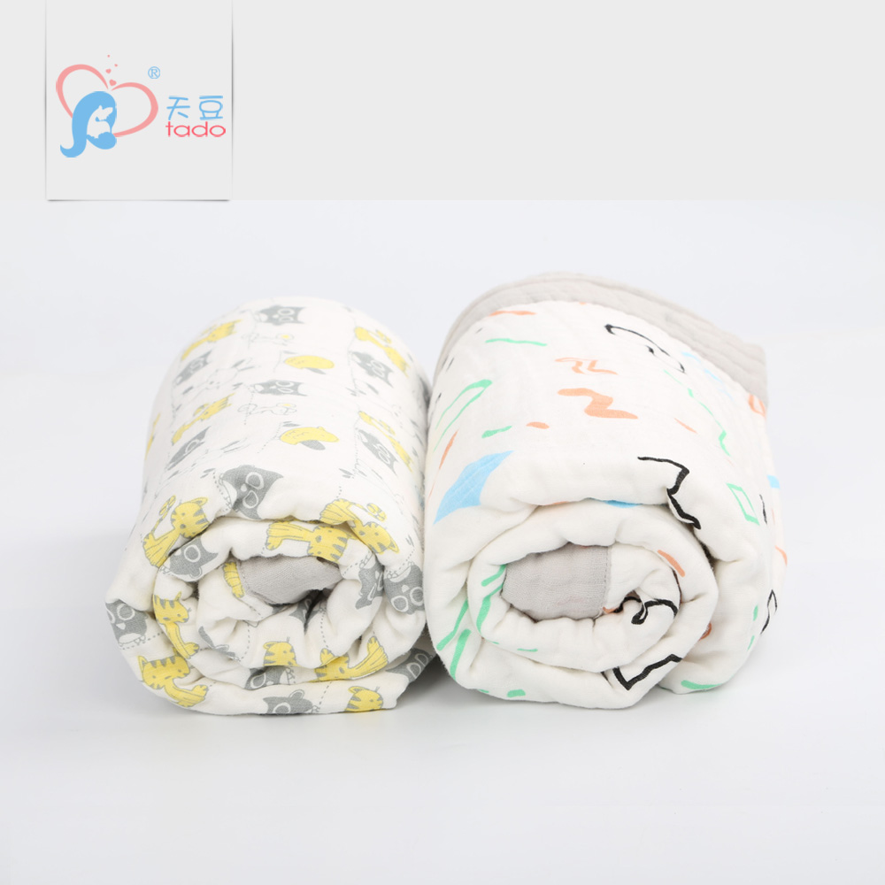 6 Layers 120*160cm Baby Muslin Blankets Newborn 100% Cotton Kids Muslin Swaddle Wraps Character Swaddle me Wraps Soft Children newborn baby swaddles 120 120cm organic cotton muslin super soft unisex plain newborns spring summer babies swaddling blankets