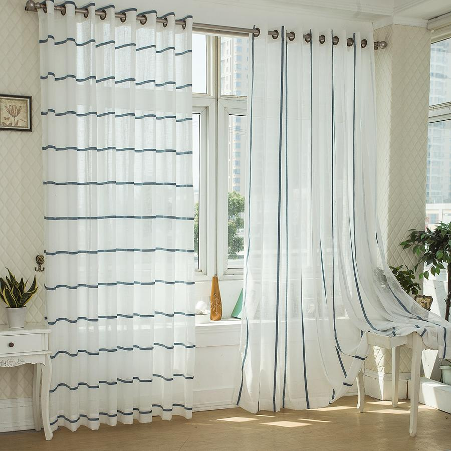 Fashion quality finished product white translucent window screening  customized modern sheer curtains for living room-in Curtains from Home &  Garden on ...