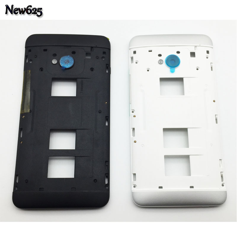 New Middle Bezel Back Plate Housing For HTC One Dual Sim M7 802t 802d 802w Frame Cover With Power Volume Key Camera Glass Lens