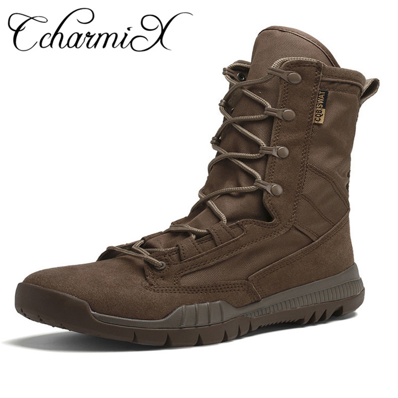цена CcharmiX Men Army Tactical Boots Winter Military Mid-Calf Boots Shoes Desert Safety Shoes Men's Footwear Combat Boots Mens Shoes