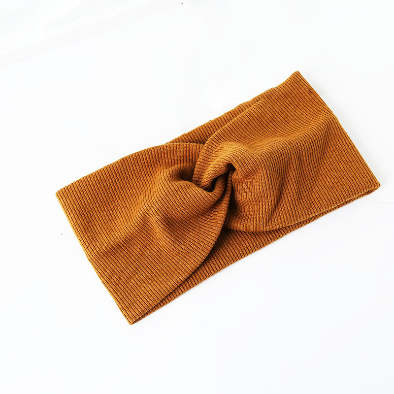 Купить с кэшбэком Fashion 1pc Women Widened Hair Bands Spiral Double Cloth Knit Ornaments Solid Color Headbands Accessories