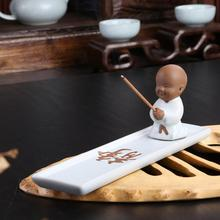 Sitting on four sides Your kiln incense socket Sweet dish There are burner The little novice monk put