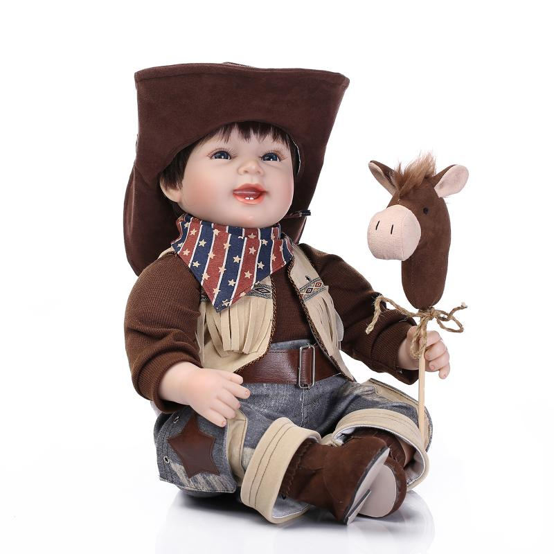 New Style American Style Cowboy Doll American Popular Hot Sell 22Inch 55cm Best-selling Personality Gift Put On A Creative Hand free shipping 2016 hot popular new style 18 american girl doll clothes clothing baby gift b301