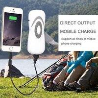 Multi Function Mini Protable Hand Cranking LED Flashlight Radio Phone Charger 3 7V 500mA USB LED