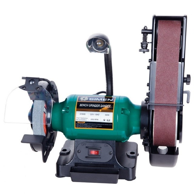 NEW 220V 750W 8 Inch Desktop Wheel Abrasive Belt Machine Sanding Discs  Machine